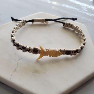 Philippines Beaded Fish Woven Rope Bracelet